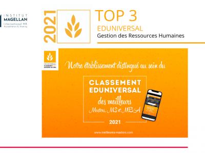 Top 3 Eduniversal 2021 Institut Magellan